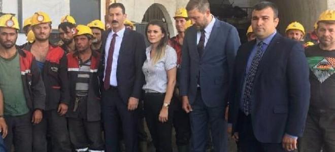 Ermenek'te maden işçilerinden 'ücret' eylemi
