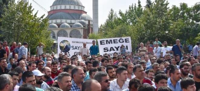 Konya'da kayıt dışı çalışan sayacılardan iş bırakma eylemi