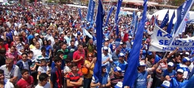 İstanbul'a yürüyüşleri yasaklanan cam işçilerinin bekleyişi sürüyor