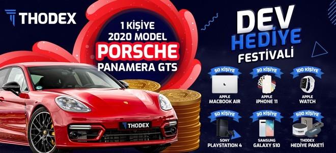 Thodex'ten kullanıcılarına Porsche Panamera!